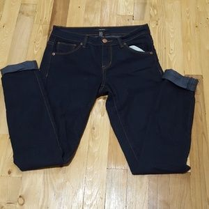 Forever 21 Low Rise Dark Wash Jeans